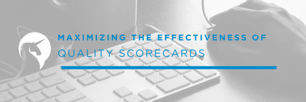 maximizing the effectiveness quality scorecards Teasdale
